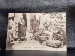 Judaica Morocco Casablanca Le Mellah Groupe D'Israelites__(11189) - Jewish