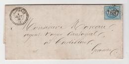 GIRONDE: GRADIGNAN G.C 1687 + CàD 22 / LAC De 1866 Pour Cadillac, Ind 13 - 1877-1920: Periodo Semi Moderno