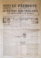 "JOURNAL ""LE PATRIOTE DU SUD OUEST"" ORGANE DU FRONT NATIONAL - MARDI 8 MAI 1945 - EDITION ARIEGE - - Sonstige"