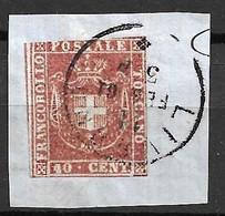 Toscane YT N° 21 Oblitéré Sur Fragment. B/TB. A Saisir! - Toscana