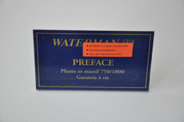 Plaque En Métal Revendeur 'Waterman - Preface' - Plaques émaillées (après 1960)