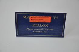 Plaque En Métal Revendeur 'Waterman - Etalon' - Plaques émaillées (après 1960)