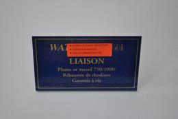 Plaque En Métal Revendeur 'Waterman - Liaison' - Plaques émaillées (après 1960)