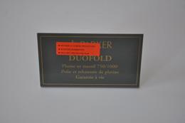 Plaque En Métal Revendeur 'Parker - Duofold' - Plaques émaillées (après 1960)