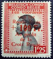 Congo Belge Belgium Congo 1944 Femme Woman Surchargé Overprint 'Au Profit De La Croix Rouge' Yvert 271 ** MNH - 1923-44: Ungebraucht