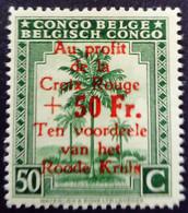 Congo Belge Belgium Congo 1944 Arbre Palmier Palmtree Surchargé Overprint 'Au Profit De La Croix Rouge' Yvert 270 ** MNH - 1923-44: Ungebraucht