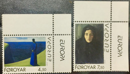 FAROE ISLANDS  1996 MNH STAMP ON EUROPA,FAMOUS WOMEN  2 DIFFERENT  STAMPS - Islas Faeroes