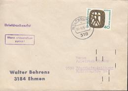 BERLIN 493 EF Auf Briefdrucksache Mit Stempel: Wolfsburg 30.9.1975 - Storia Postale