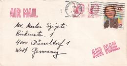 Michel 1940, 2079 Auf Luftpostbrief Nach West Germany / Deutschland (The Wizard Of Oz, Red Cloud) - Brieven En Documenten