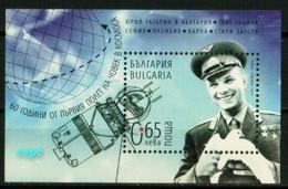 Yrij Gagarin - 60 Years Since The First Space Flight - Bulgaria/ Bulgarie 2021 Year - Block MNH** - Neufs