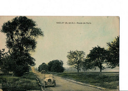 SACLAY (S.-et- O.) - Route De Paris.  VOITURES ANCIENNES.  TBE. Pas Circulé.  Voir SCANS Recto-verso - Saclay