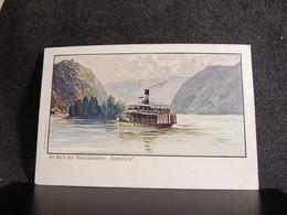 Steamer Bord Des Rheindampfers Gutenberg -07__(12487) - Steamers