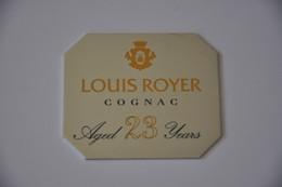 Plaque En Métal 'Louis Royer Cognac' - Plaques émaillées (après 1960)