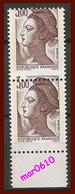 1982 - Liberté De Gandon - 3 Frs - Y&T N° 2243 E En Paire - Piquage à Cheval Vertical - Neufs** - Variedades: 1980-89 Nuevos