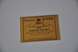 Plaque En Métal 'Cuvée 2000 Par Laurent-Perrier' - Plaques émaillées (après 1960)