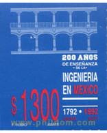 Ref. 343481 * MNH * - MEXICO. 1992. 200 YEARS OF ENGINEERING EDUCATION . 200 AÑO DE LA ENSEÑANZA DE LA INGENIERIA - México