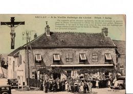"""SACLAY. - A La Vieille Auberge Du Christ. """"Lire La Légende"""". RARE. TRES BON ETAT. Voir SCANS Recto-verso - Saclay"""