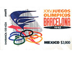 Ref. 44185 * MNH * - MEXICO. 1992. GAMES OF THE XXV OLYMPIAD. BARCELONA 1992 . 25 JUEGOS OLIMPICOS VERANO BARCELONA 1992 - Other