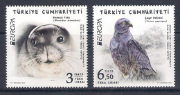 Turkey [EUROPA 2021] Endangered National Wildlife - Set Of 2 Stamps (MNH) - Sammlungen