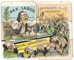 POLITIQUE MILITARIA PILLAGE USINES NORD BELGIQUE SYSTEME CARICATURE SATIRIQUE SOCIAL DEMOKRATIE LILLE KAISER KRIEG BOCHE - Satira