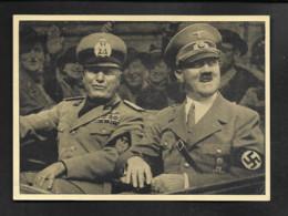 DR Ak Hitler Mit Mussolini / SSt München - Guerra 1939-45