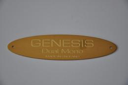 Plaque En Métal 'Genesis - Four Channel' - Plaques émaillées (après 1960)