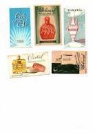 Lot De 5 Carte Parfumée Collection Lt Piver Molinard Lesourd Cristal Ancien Rare Calendal Pompéia Ciel D'été Habanita - Vintage (until 1960)