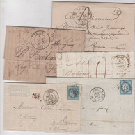 NORD: LILLE, Lot De 5 CàD Différents Entre 1831 Et 1873 / 5  LAC TB - 1801-1848: Precursores XIX