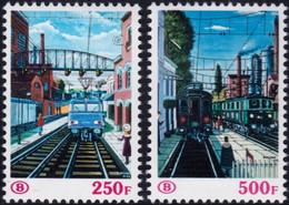✔️ Belgie 1985 - Spoorweg / Chemin De Fer - 150 Jaar Spoor - OBP/COB TR459/TR460 ** MNH - 1952-....