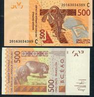 W.A.S. LETTER C Burkina Faso P 319Ci 500 FRANCS (20)20   Signature 44  UNC. - Burkina Faso