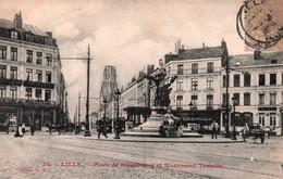 59 / LILLE / PLACE DE STRASBOURG ET MONUMENT TESTELIN / GL 35 - Lille