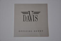 Plaque De Revendeur 'Davis' - Plaques émaillées (après 1960)