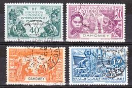 Dahomey  99/102  Exposition Coloniale Oblitérés 1 Timbre Dentelure Irregulière Cote 33 - Oblitérés