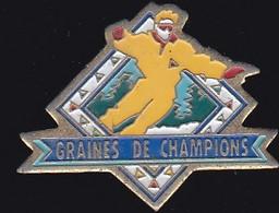 71300-Pin's-Le Magazine Des Jeunes Skieurs Des Contamines - Graines De Champions - Sport Invernali