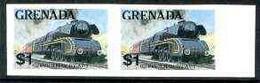 Grenada 1982 Famous Trains $1 German Federal Rlw Steam Loco U/m Imperf Pair, As SG 1216 - Grenada (1974-...)