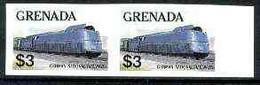 Grenada 1982 Famous Trains $3 German Nat Rlws Class 05 Steam Loco U/m Imperf Pair, As SG 1217 - Grenada (1974-...)