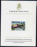 Grenada 1975 Pearls Airport 35c Imperf Proof Format International Proof Card (as SG 661) - Grenada (1974-...)