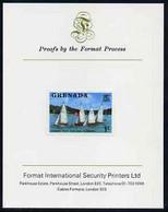 Grenada 1975 Yacht Club Race 1c Imperf Proof Format International Proof Card (as SG 650) - Grenada (1974-...)