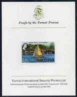 Grenada 1968-71 Yachting 75c Imperf Proof Format International Proof Card (as SG 317a) - Grenada (1974-...)