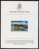 Grenada 1975 Canoe Bay $5 (View From Lighthouse) Imperf Proof Format International Proof Card (as SG 667) - Grenada (1974-...)