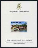 Grenada 1975 Carenage $1 Imperf Proof Format International Proof Card (as SG 664) - Grenada (1974-...)