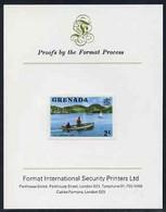 Grenada 1975 Carenage Taxi 2c Imperf Proof Format International Proof Card (as SG 651) - Grenada (1974-...)