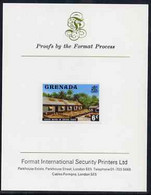 Grenada 1975 Cocoa Beans 6c Imperf Proof Format International Proof Card (as SG 654) - Grenada (1974-...)