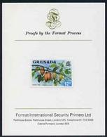 Grenada 1975 Cocoa Tree 12c Imperf Proof Format International Proof Card (as SG 657) - Grenada (1974-...)