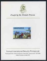 Grenada 1975 Fishermen 15c Imperf Proof Format International Proof Card (as SG 658) - Grenada (1974-...)