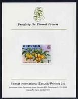 Grenada 1975 Nutmegs 8c Imperf Proof Format International Proof Card (as SG 655) - Grenada (1974-...)