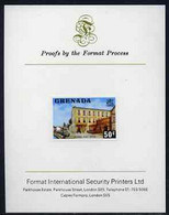 Grenada 1975 Post Office 50c Imperf Proof Format International Proof Card (as SG 662) - Grenada (1974-...)