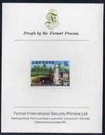 Grenada 1975 Rum Distillery 10c Imperf Proof Format International Proof Card (as SG 656) - Grenada (1974-...)