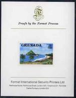 Grenada 1975 Sugar Loaf Island $10 Imperf Proof Format International Proof Card (as SG 668) - Grenada (1974-...)