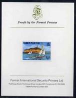 Grenada 1975 Yachts 1/2c Imperf Proof Format International Proof Card (as SG 649) - Grenada (1974-...)